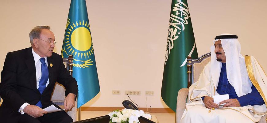 Nazarbayev'den Kral Selman ve Muhammed bin Selman'a Kazakistan daveti