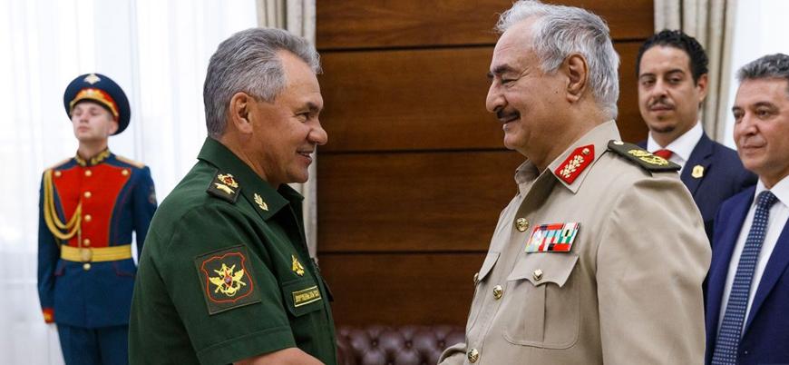 Halife Hafter Rusya Savunma Bakanı Şoygu ile görüştü