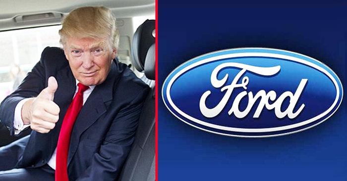 Ford Trump'ı dinledi: Meksika yatırımını iptal ediyor