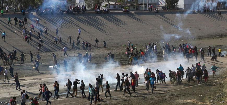 ABD sınırına hücum eden göçmenlerle polis arasında çatışma çıktı