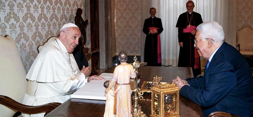 Mahmut Abbas Papa ile görüştü: Noel'de barış için dua ediyoruz