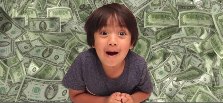 YouTube'un en çok kazananı 8 yaşında