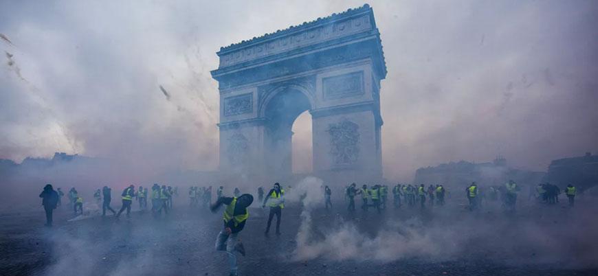 Paris'te Eyfel Kulesi ve mağazalar protestolar nedeniyle kapalı