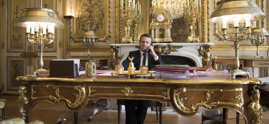 'Zenginlerin cumhurbaşkanı değilim' diyen Macron konuşmasını 'altın oda'da yaptı