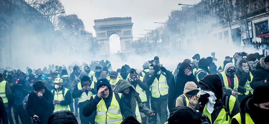 Fransa'da 'Sarı Yelekliler'in protestoları 5. haftasında