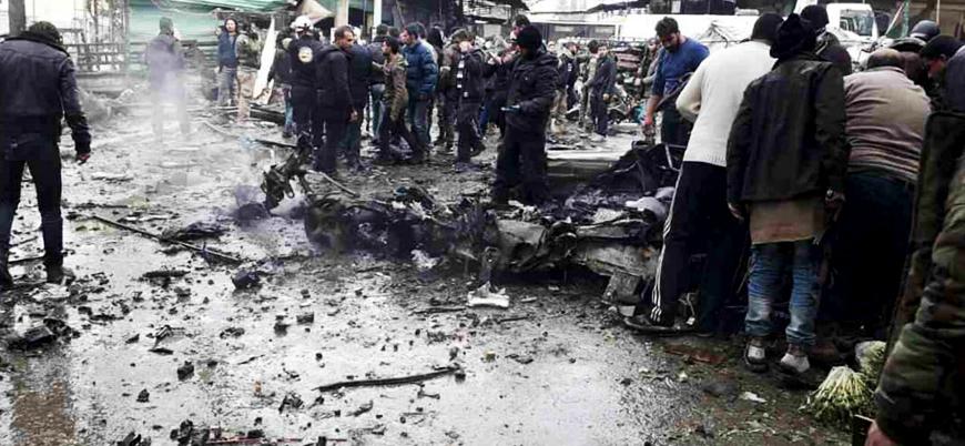 Afrin kent merkezinde bombalı araç patlatıldı