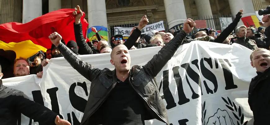 Belçika'da göçmen karşıtları polisle çatıştı