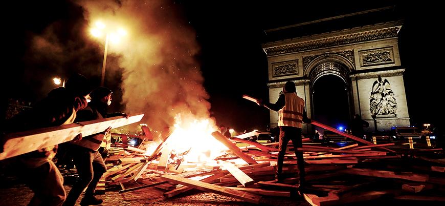 Macron 'Sarı Yelekliler'i suçladı: Fransa bütçe açığı sınırını aşıyor