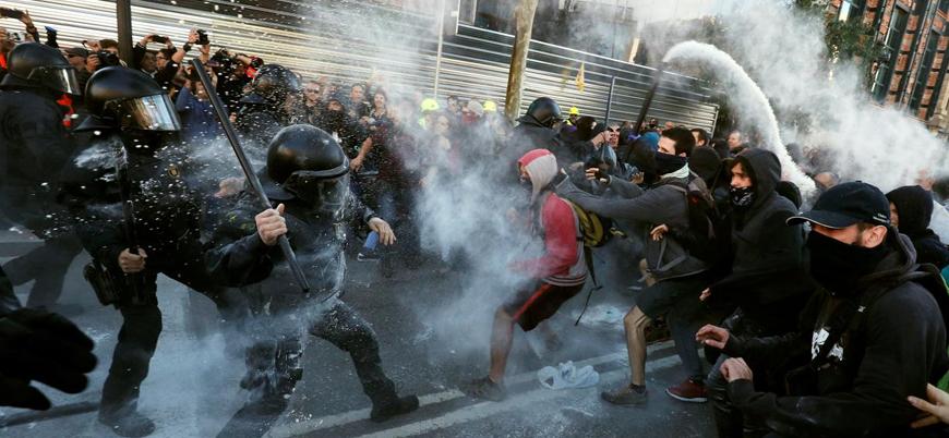 İspanya'da ayrılık yanlısı Katalanlardan protesto