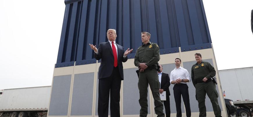 Trump Meksika Duvarı için 'kazıklı çit'i beğendi