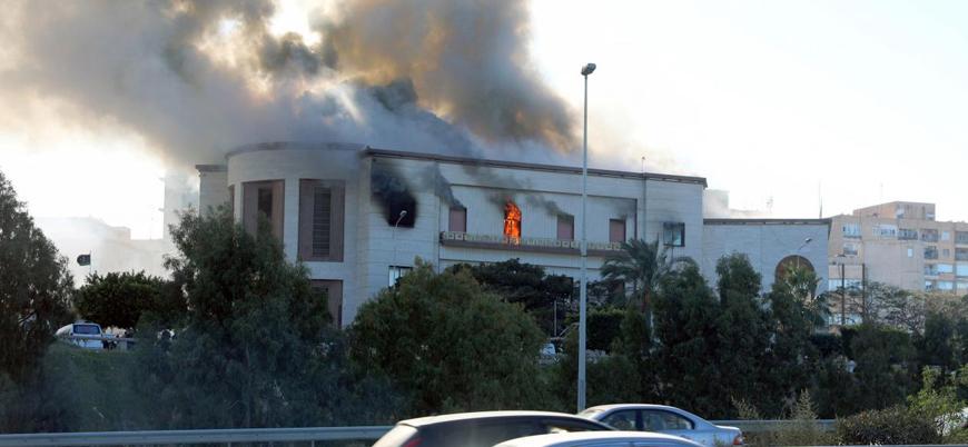 Libya'nın başkenti Trablus'ta Dışişleri Bakanlığı'na saldırı