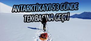 ABD'li Colin O'Brady Antarktika'yı 53 günde tek başına geçti
