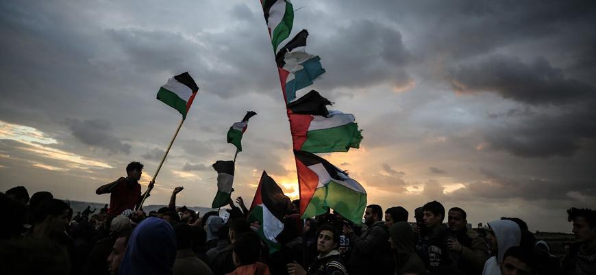 Gazze gösterilerinde Filistinli bir kadın vurularak öldürüldü