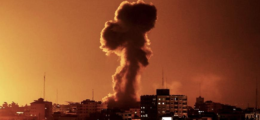 İsrail'den Gazze'de Hamas mevzilerine hava saldırısı