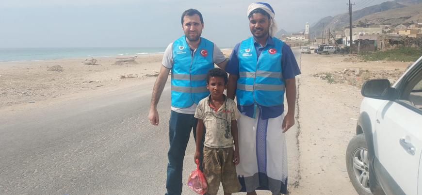 Türkiye'den insani yardım gönüllüleri Yemen'e ulaştı