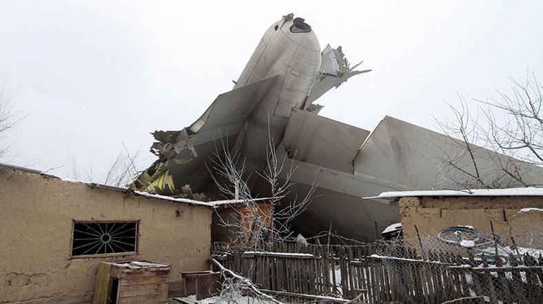 Türk kargo uçağı Bişkek'e düştü: 37 ölü