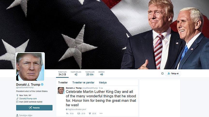 Trump kendi sosyal medya hesabını kullanacak