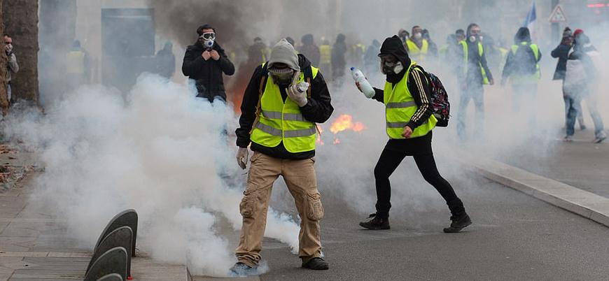 'Sarı Yelekliler' protestoları 11'inci haftasında