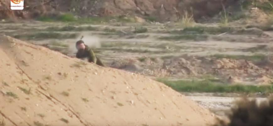 Gazze'de İsrail askerinin vurulduğu anlara dair görüntüler yayınlandı