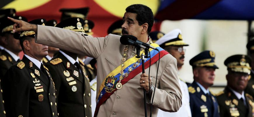 Venezuela ordusu insani yardım konvoyunu durdurdu