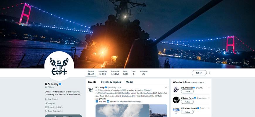 ABD Donanması İstanbul Boğazı'nı başlık fotoğrafı yaptı