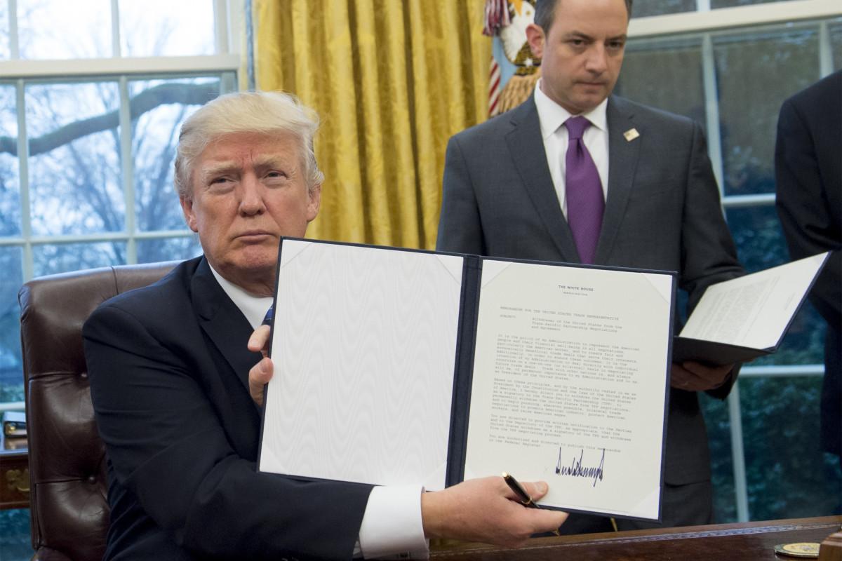 Trump ABD'yi Trans Pasifik İşbirliği'nden çekti