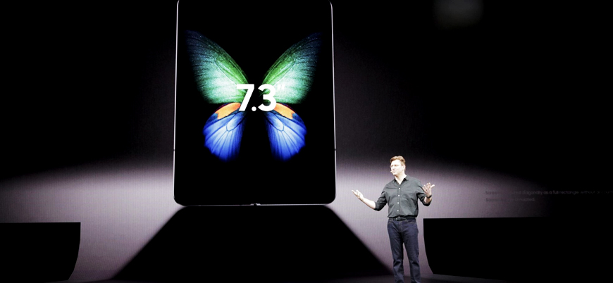 Samsung katlanabilir telefonu Galaxy Fold'u tanıttı