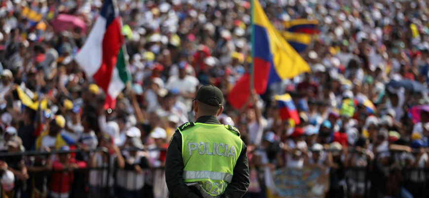 Yurt dışı yasağına rağmen Kolombiya'ya geçen Guaido: Ordu yardım etti