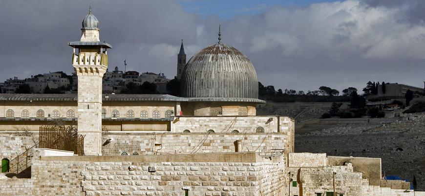 Filistinli protestocular Mescid-i Aksa'nın 16 yıldır kapalı tutulan kapısını açtı