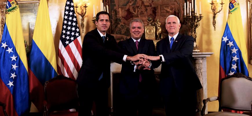 """""""Trump Venezuela geçici devlet başkanı Guaido'yu yüzde yüz destekliyor"""""""