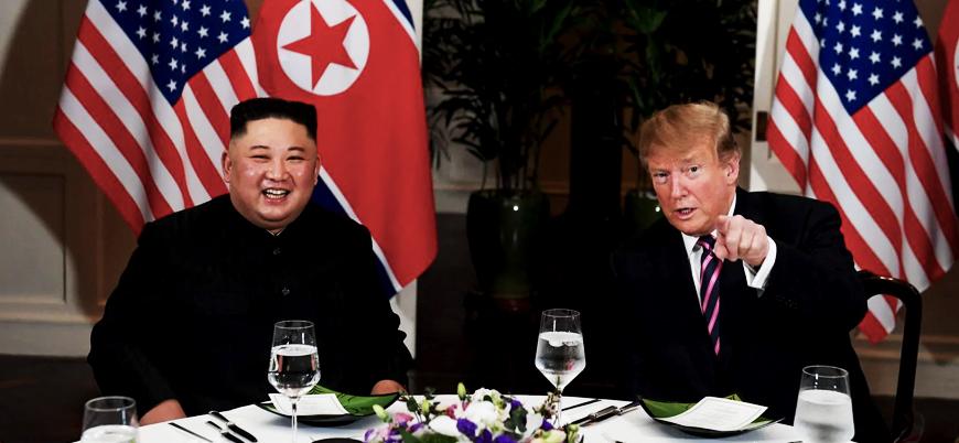 Trump ve Kim bir araya geldi: İkili samimi görüntüler verdi
