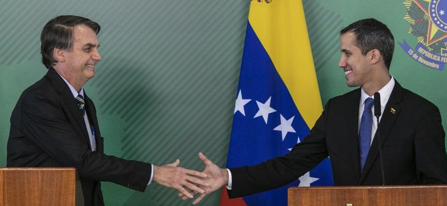 Kendini geçici devlet başkanı ilan eden Guaido Brezilya'ya resmi ziyaret gerçekleştirdi