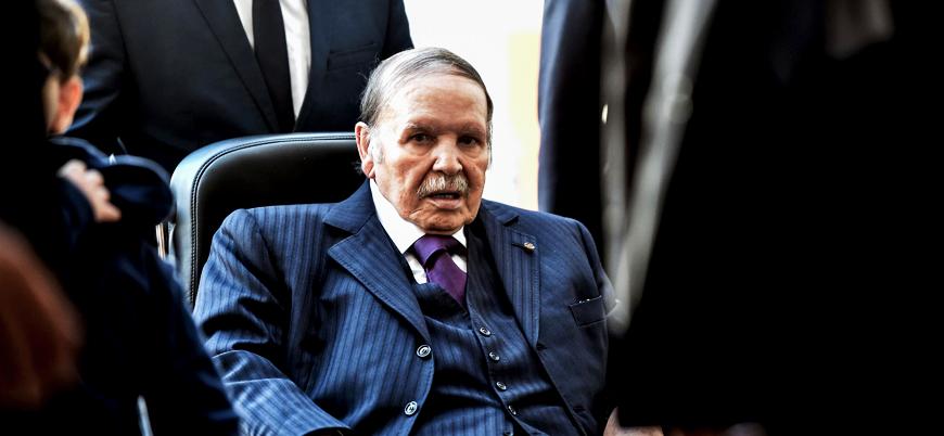 Ülkesinde protesto edilen Buteflika'dan öneri: Seçilirsem görevi bırakırım