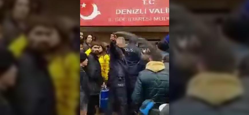 Mültecilere biber gazı sıkan polis memuru geçici olarak görevden uzaklaştırıldı