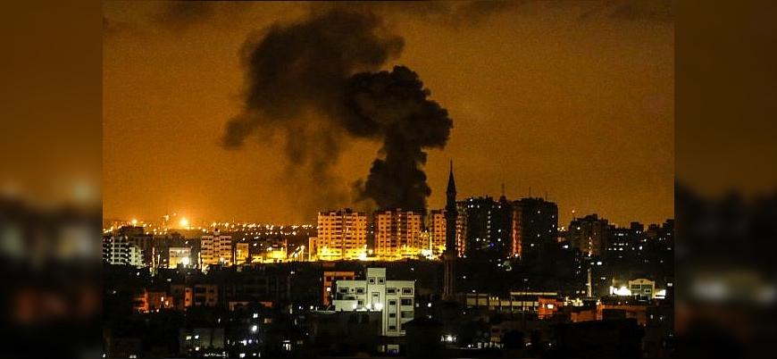 İsrail Gazze'de Hamas'a ait noktalara hava saldırısı düzenledi