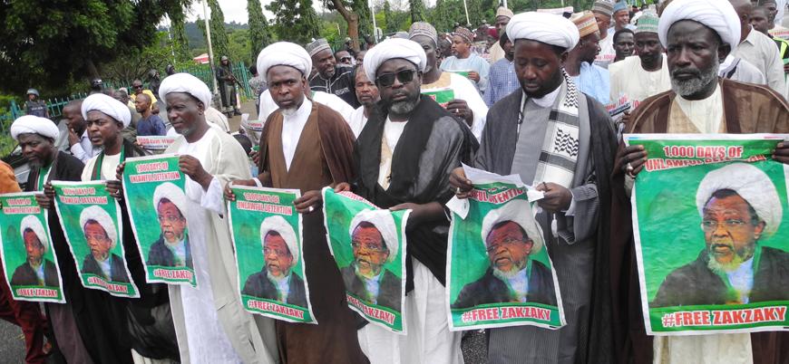 Nijerya'da tutuklu bulunan İran destekli Şii lider Zakzaki'ye destek gösterisi