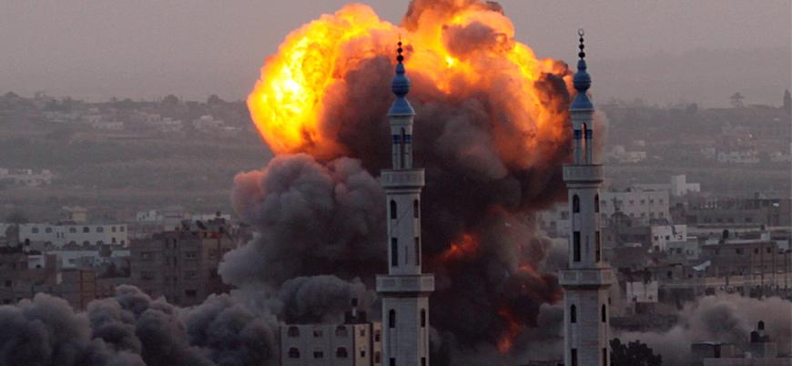 İsrail'den Gazze'ye 3 farklı hava saldırısı