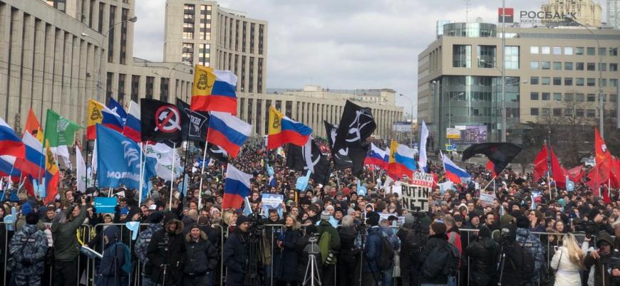 Rusya'da 'internet kısıtlaması' protestosu