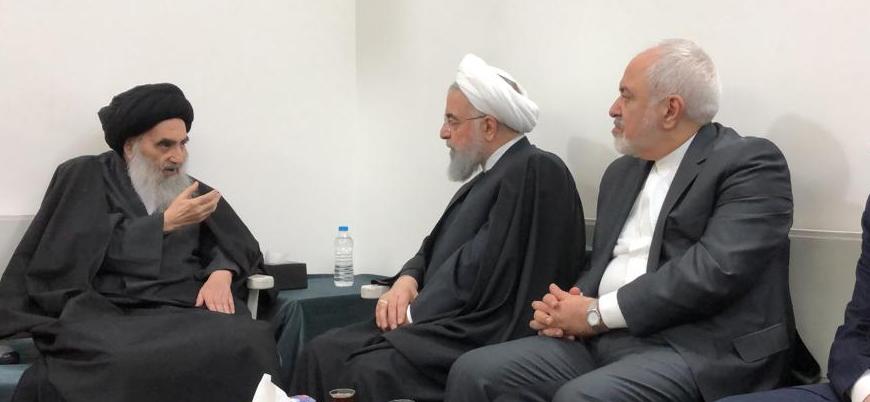 Ruhani'den bir ilk: Irak'ta Şii lider Sistani'yi ziyaret etti