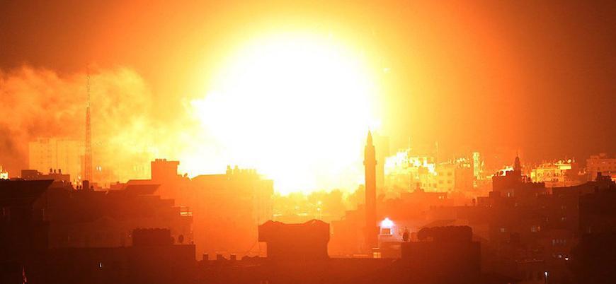 Tel Aviv'i vuran roketler sonrası İsrail Gazze'yi bombaladı