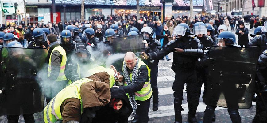 18'inci haftasında Sarı Yelekliler polisle çatıştı