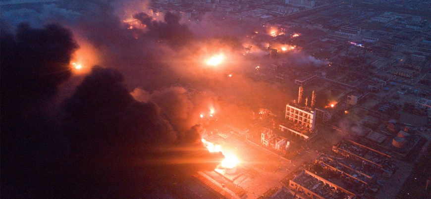 Çin'de fabrikada patlama: 44 ölü 640 yaralı
