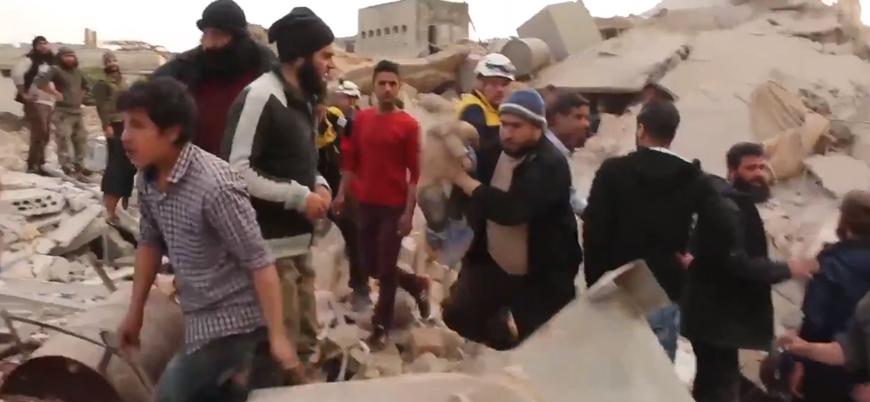 Rusya İdlib'i havadan vurmayı sürdürüyor: En az 10 sivil öldü