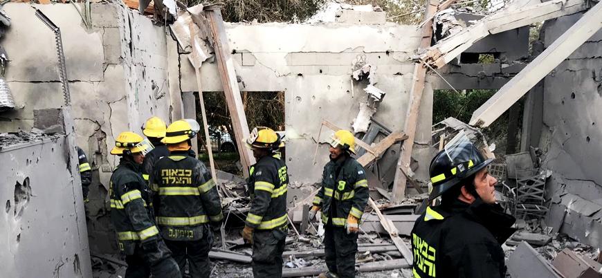 Gazze'den atılan uzun menzilli roket İsrail'i vurdu: 7 yaralı
