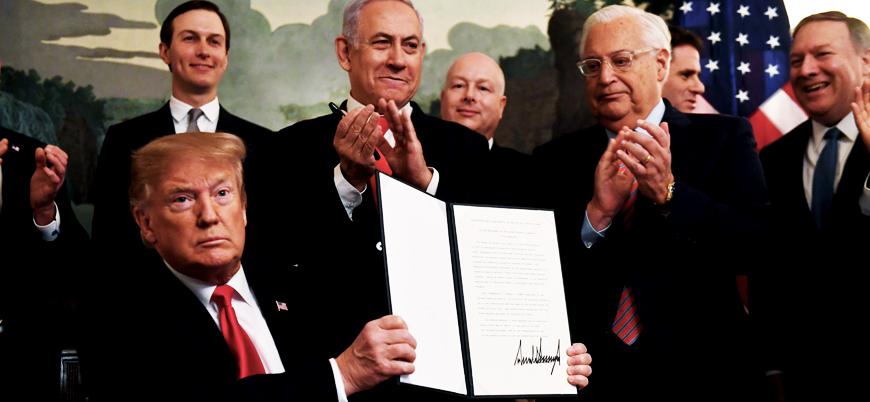 Trump'tan İsrail'e bir jest daha: Golan Tepeleri kararnamesini imzaladı