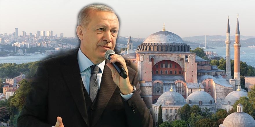 Erdoğan: Seçimlerden sonra Ayasofya'yı camiye çevirebiliriz