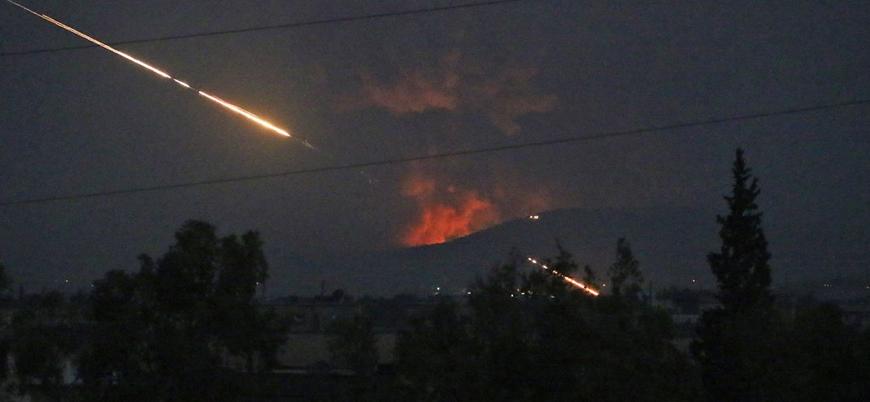 İsrail Hama'da Esed rejimi ve İran'ı vurdu