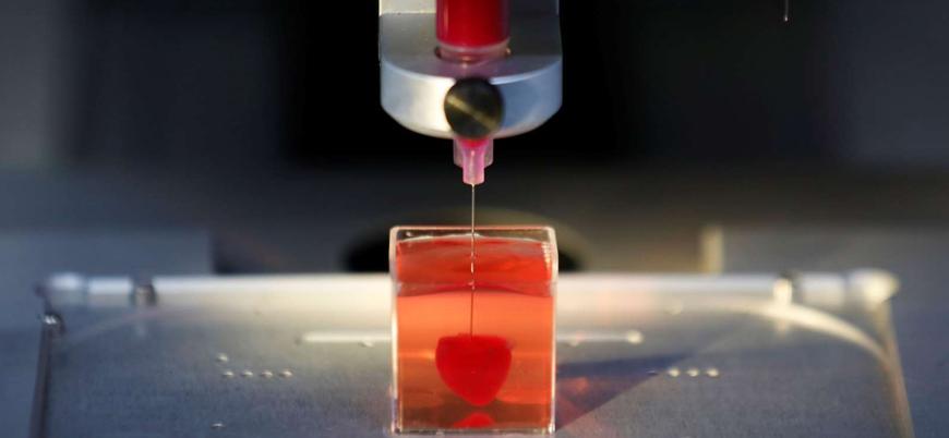 Üç boyutlu yazıcıda ilk kalp üretildi