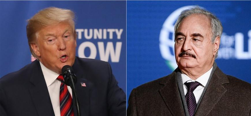 Trump'tan sürpriz görüşme: 'ABD Hafter'in terörle mücadeledeki rolünü tanıyor'