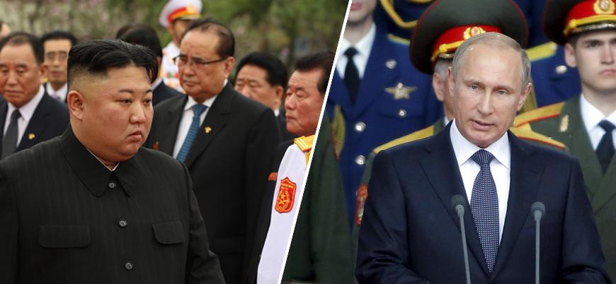 """""""Kim Jong-un ilk Rusya ziyareti için yola çıktı"""""""